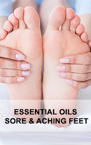 essential oils sore and aching feet